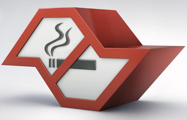 Símbolo da campanha anti-tabaco do governo do estado.